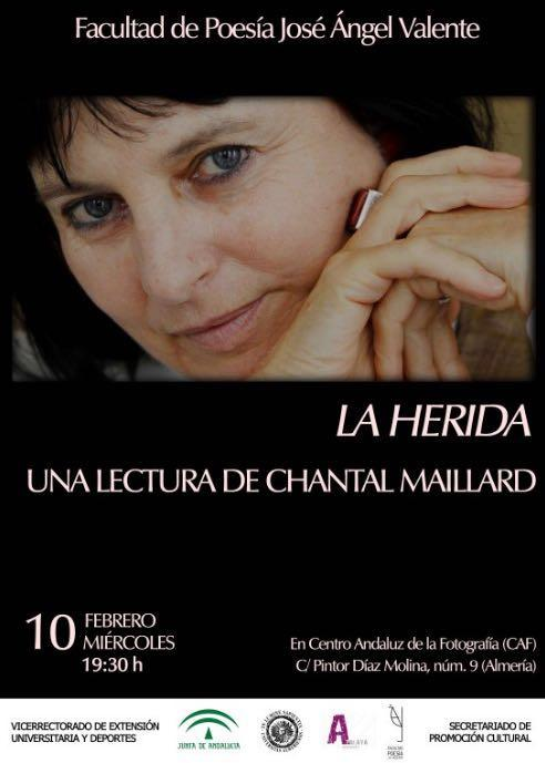 Lectura de Chantal Maillard