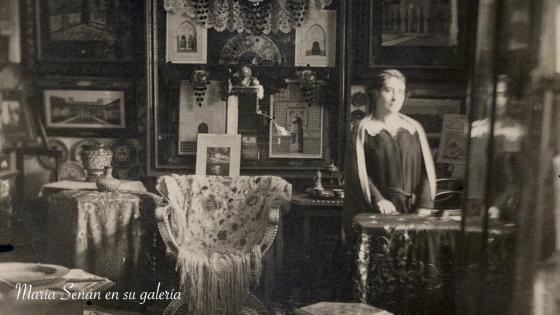 María Señan en su galería