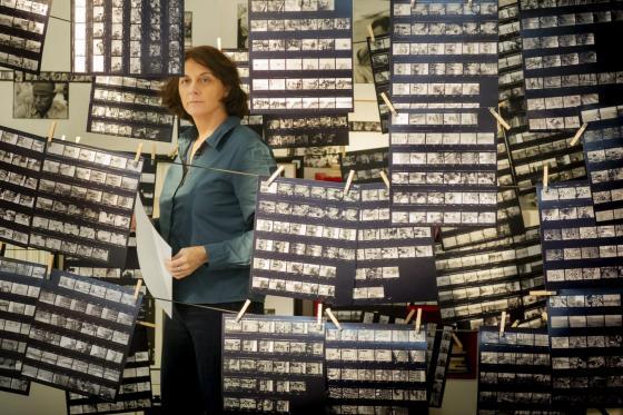 Mariana Otero en el rodaje
