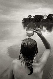 Fotografía en blanco y negro de Rafel Trobat realizada en Isla Mancarrón, Nicaragua, en 1990