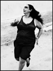 Fotografía en blanco y negro de la bailaora Concha Vargas realizada por Ruven Afanador.