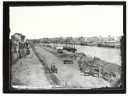 Fotografía en blanco y negro de las vistas de Triana realizada por Jean Laurent en 1879