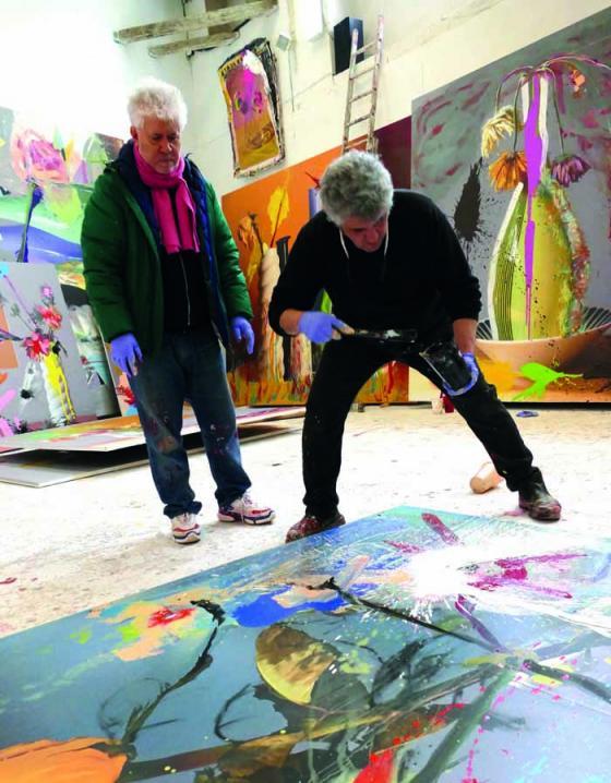 @ Iglesias Mas. Imagen sobre el proceso creativo de Pedro Almodóvar y Jorge Galindo en Flores de periferia.