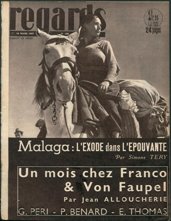 © Gerda Taro. Portada de la revista Regards
