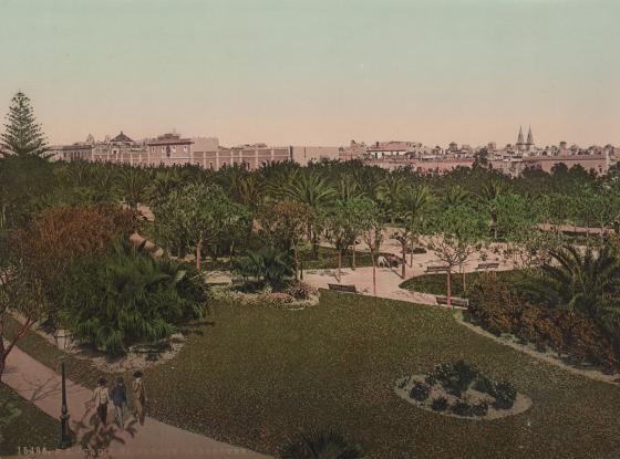 Imagen del parque de Genoveses en Cádiz