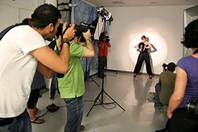 Fotografía del plató fotográfico del Centro Andaluz de la Fotografía.