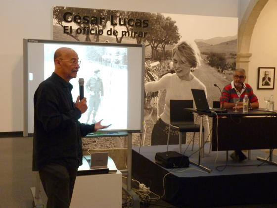 Picture of César Lucas' conference at the Andalusian centre of Photography