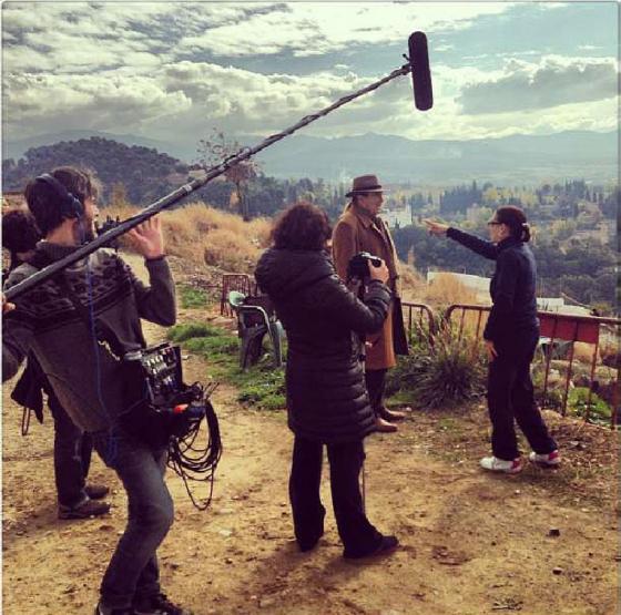 Imagen de un set de grabación con Chus Gutiérrez